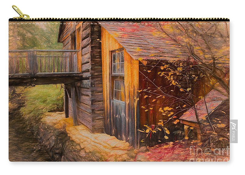 British Columbia Carry-all Pouch featuring the photograph Grist Mill by Wendy Elliott