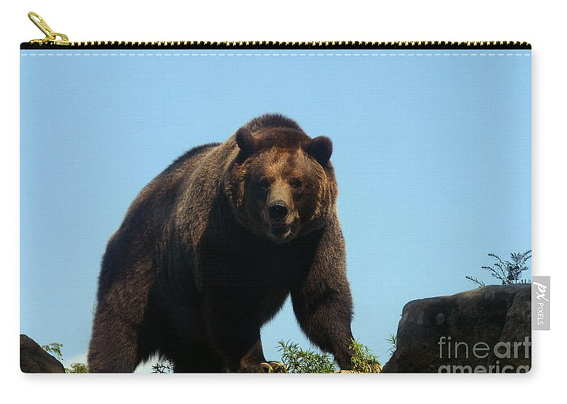 Animal Carry-all Pouch featuring the photograph Grizzly-7746 by Gary Gingrich Galleries