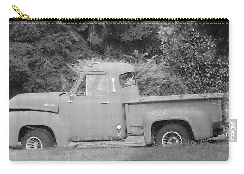 Truck Carry-all Pouch featuring the photograph Grounded Pickup by Pharris Art