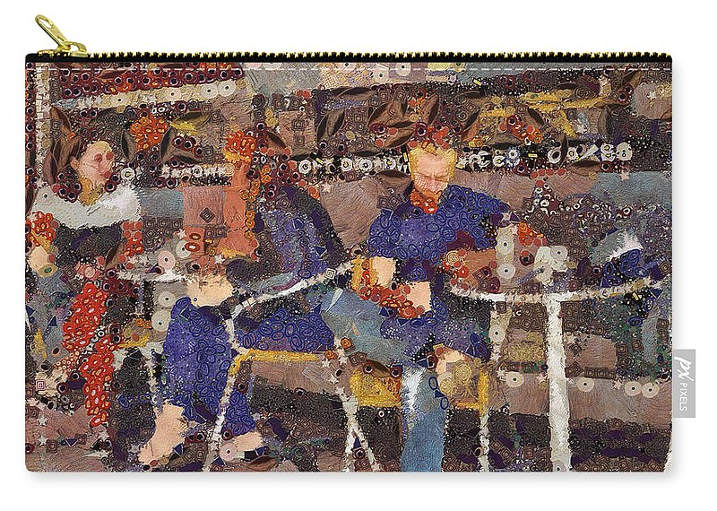 Cafe Carry-all Pouch featuring the digital art Groundhog Day by Leigh Kemp
