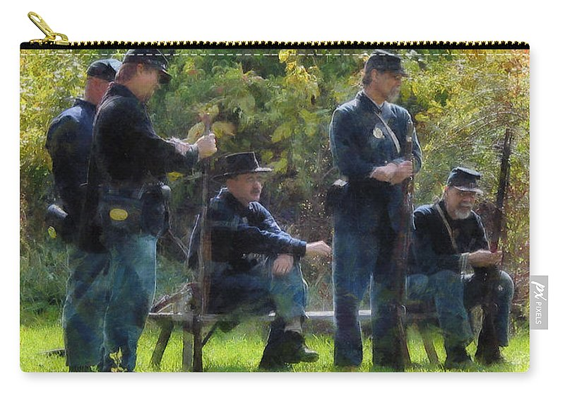 Rifle Carry-all Pouch featuring the photograph Group Of Union Soldiers by Susan Savad