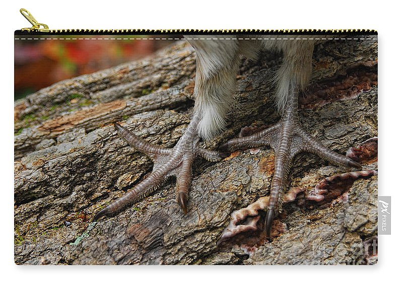 Tim Flanigan Carry-all Pouch featuring the photograph Grouse Feet by Timothy Flanigan