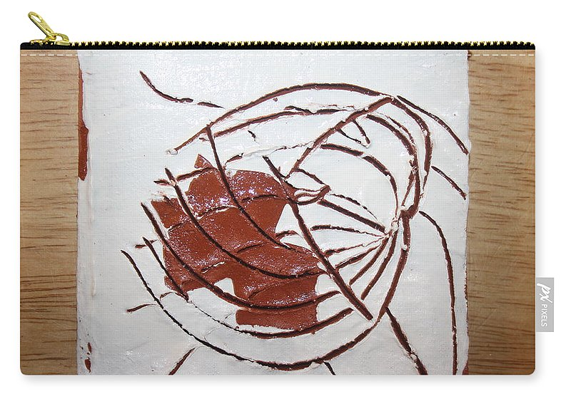Jesus Carry-all Pouch featuring the ceramic art Growth - Tile by Gloria Ssali