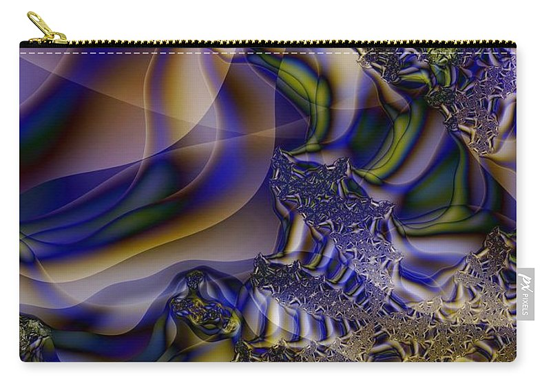 Segmentation Carry-all Pouch featuring the digital art Growth Segmentation by Ron Bissett