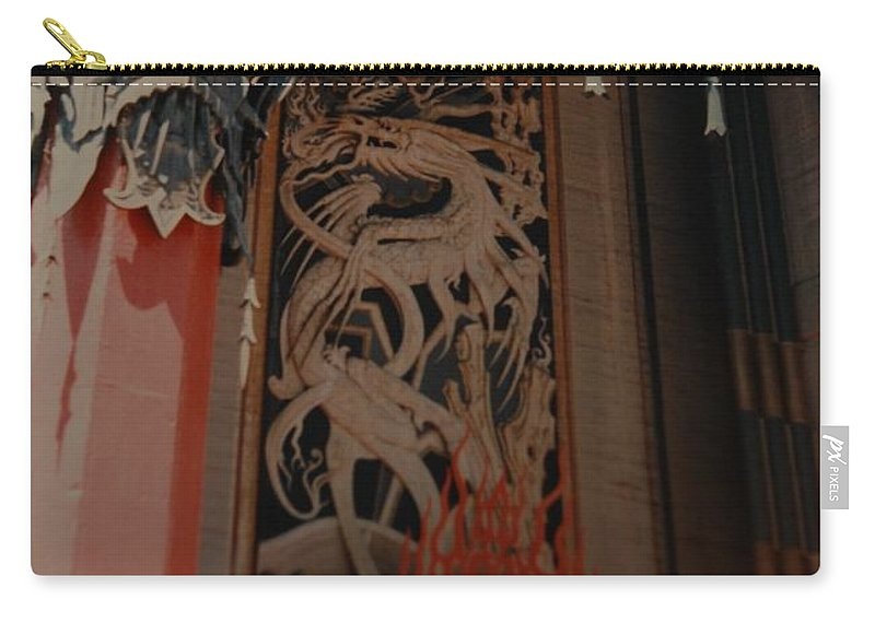 Grumanns Chinese Theater Carry-all Pouch featuring the photograph Grumanns Chinese Theater by Rob Hans