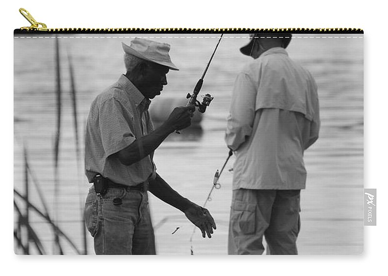 Men Carry-all Pouch featuring the photograph Grumpy Old Men by Rob Hans