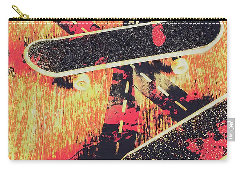 Art Carry-all Pouch featuring the photograph Grunge Skate Art by Jorgo Photography - Wall Art Gallery