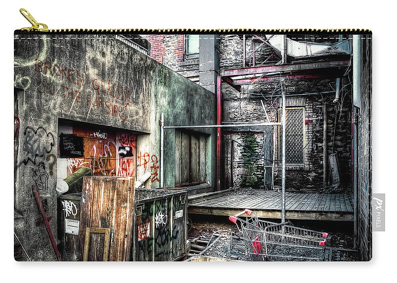 City Carry-all Pouch featuring the photograph Grungefest by Wayne Sherriff