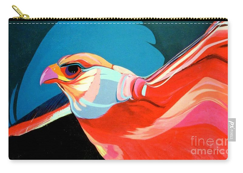 Bird Carry-all Pouch featuring the painting Gryfalcon by Marlene Burns