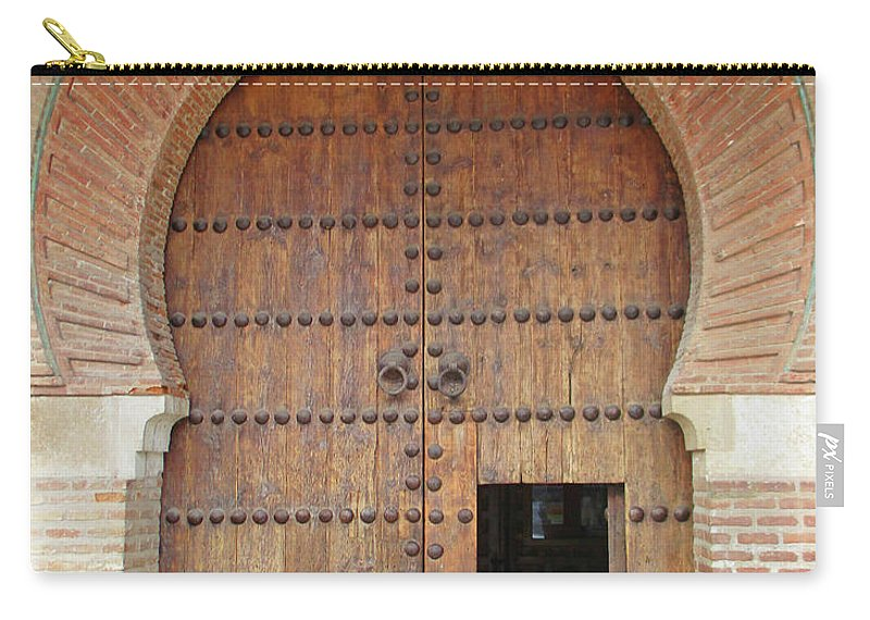 Guadalajara Carry-all Pouch featuring the photograph Guadalajara Door 3 by Randall Weidner