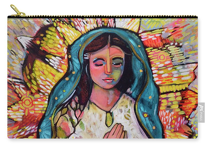 Jen Norton Carry-all Pouch featuring the painting Guadalupe by Jen Norton