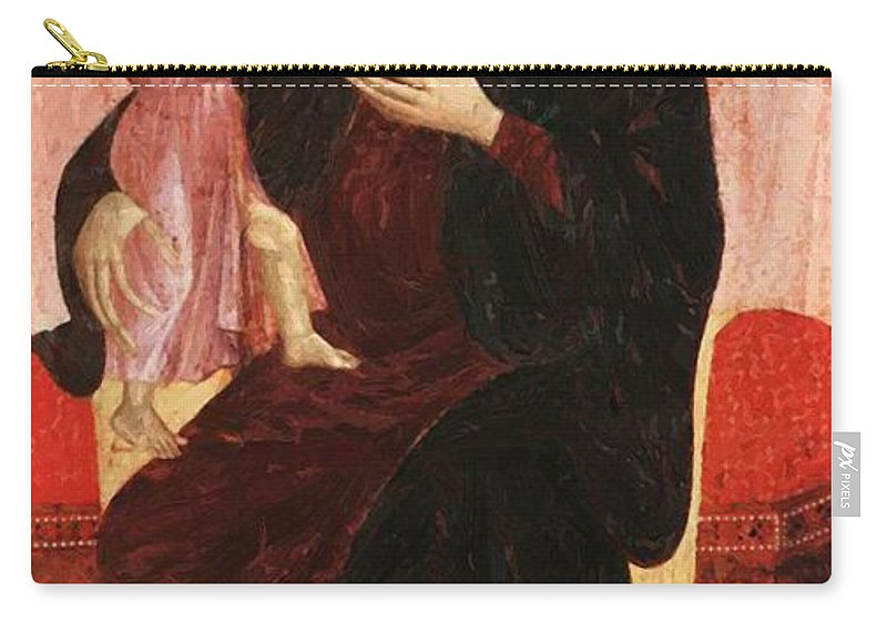 Gualino Carry-all Pouch featuring the painting Gualino Madonna by Duccio