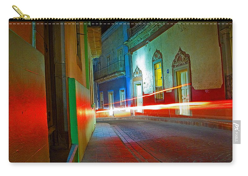 Shadow Carry-all Pouch featuring the photograph Guanajuato Night by Skip Hunt