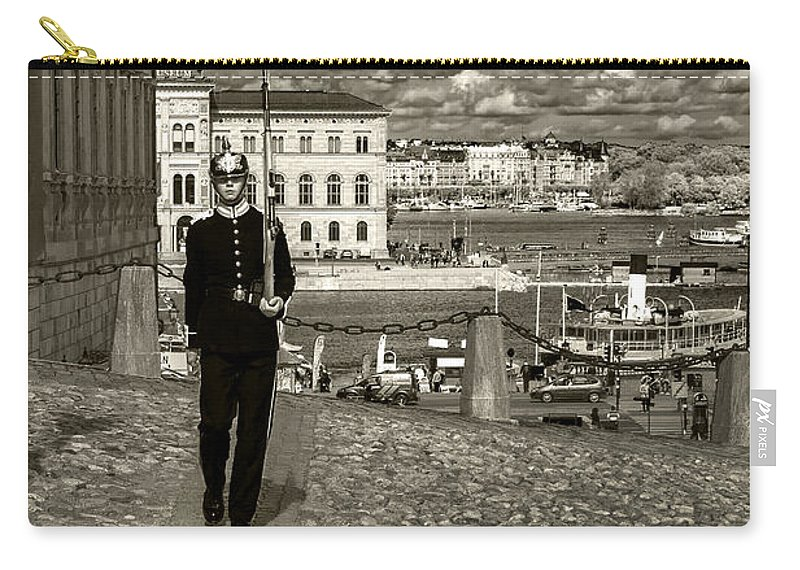 Stockholm Carry-all Pouch featuring the photograph Guard Duty by Joseph Yvon Cote