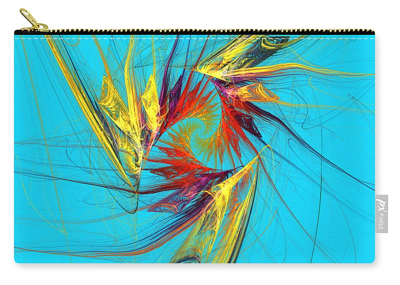 Abstract Carry-all Pouch featuring the digital art Guarding Child's Dream by Galina Lavrova