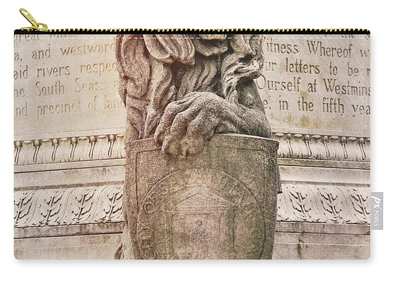 Marble Carry-all Pouch featuring the photograph Guarding Savannah by JAMART Photography