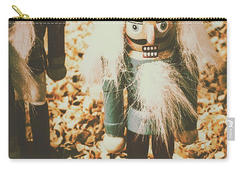 Nutcrackers Carry-all Pouch featuring the photograph Guards Of Nutcracker Way by Jorgo Photography - Wall Art Gallery