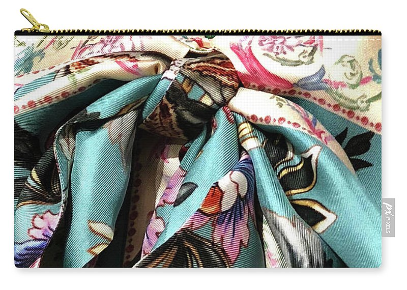 Fabric Carry-all Pouch featuring the photograph Garden Bow by Ceil Diskin