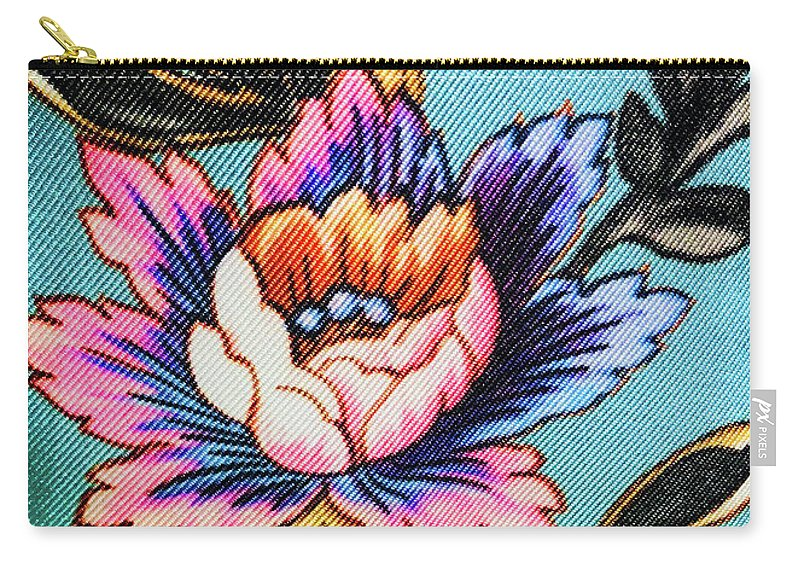 Carry-all Pouch featuring the photograph Garden Flower by Ceil Diskin