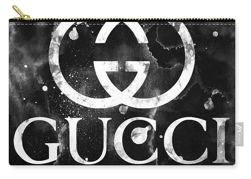 5cf08dea0b Gucci Logo Black 2 Carry-all Pouch for Sale by Del Art