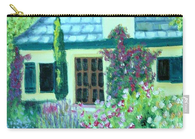 Cottage Carry-all Pouch featuring the painting Guest Cottage by Laurie Morgan