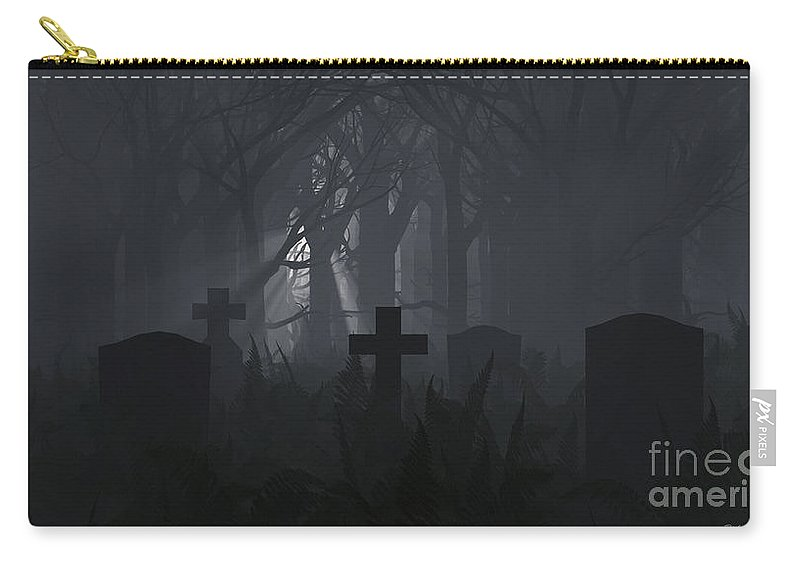 Death Carry-all Pouch featuring the digital art Guiding Light by Richard Rizzo