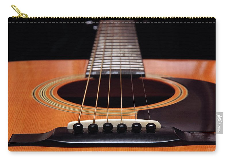 Andee Design Guitar Carry-all Pouch featuring the photograph Guitar 12 by Andee Design