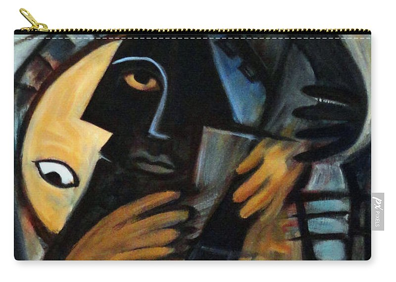 Cubism Carry-all Pouch featuring the painting Guitarist by Valerie Vescovi
