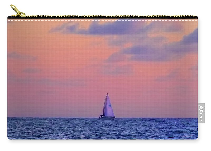Gulf Carry-all Pouch featuring the photograph Gulf Coast Sailboat by Bill Cannon