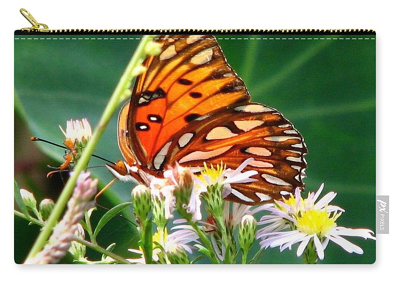 Gulf Fritillary Carry-all Pouch featuring the photograph Gulf Fritillary 1 by J M Farris Photography