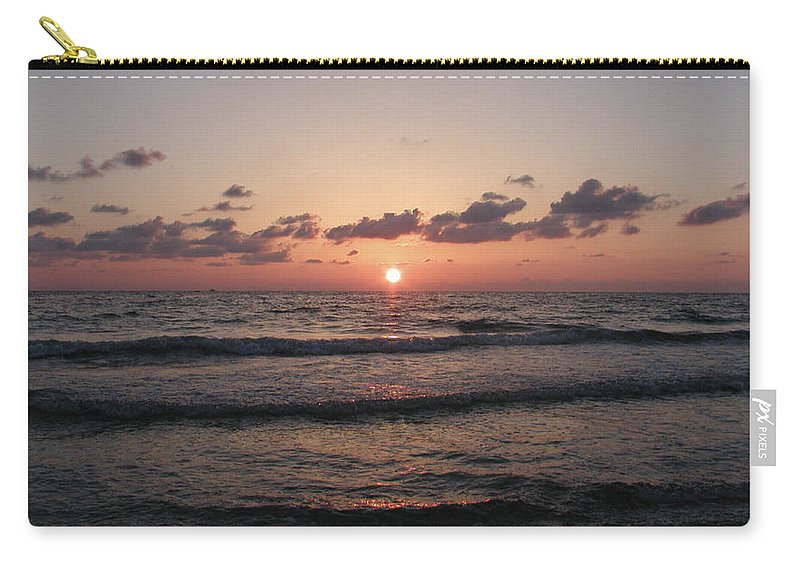 Gulf Carry-all Pouch featuring the photograph Gulf Sunset by Bill Cannon