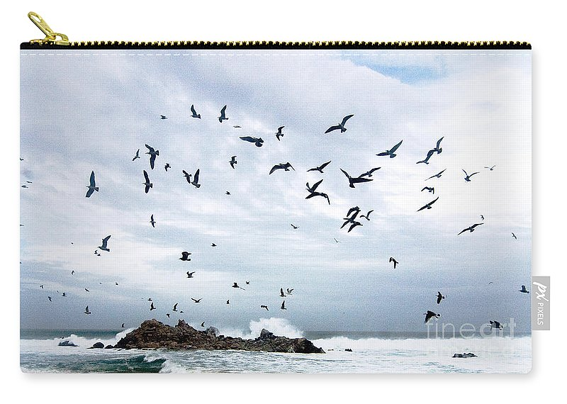 Coastal California Carry-all Pouch featuring the photograph Gulls Of Carmel by Norman Andrus