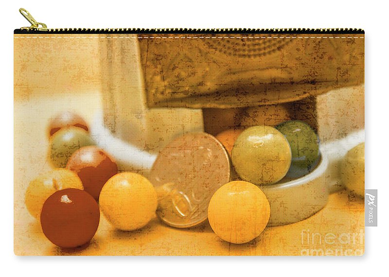 Bubblegum Carry-all Pouch featuring the photograph Gumballs Dispenser Antiques by Jorgo Photography - Wall Art Gallery