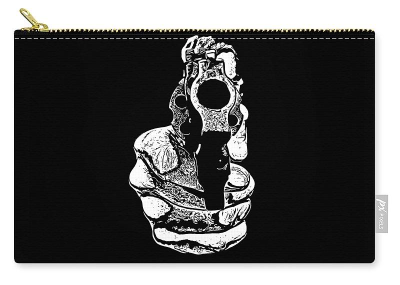 Gunman Carry-all Pouch featuring the photograph Gunman T-shirt by Edward Fielding