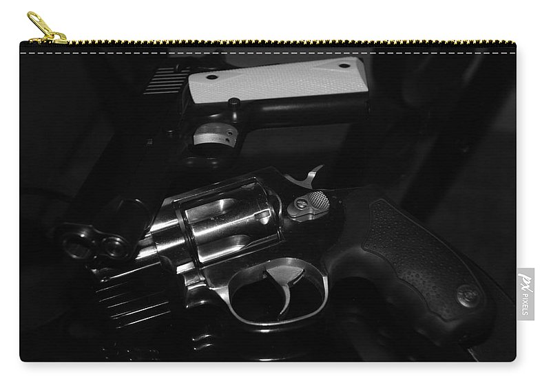 Guns Carry-all Pouch featuring the photograph Guns And More Guns by Rob Hans