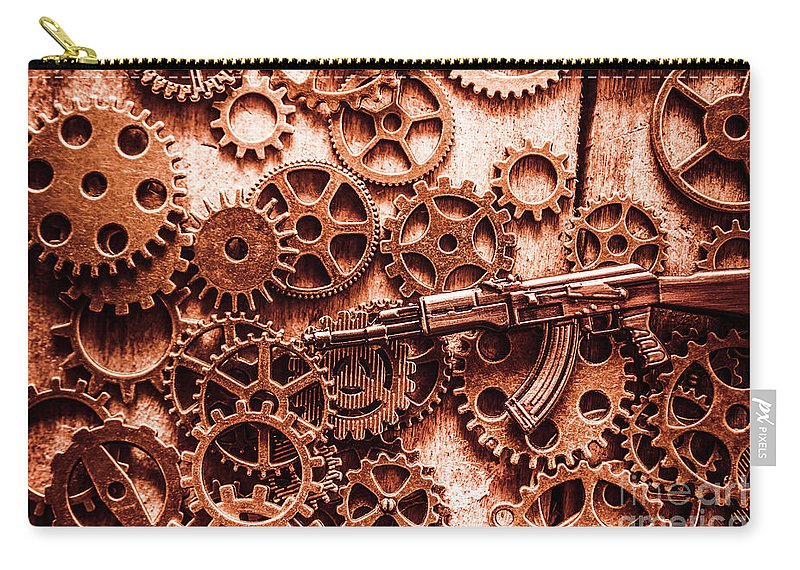 Guns Carry-all Pouch featuring the photograph Guns Of Machine Mechanics by Jorgo Photography - Wall Art Gallery