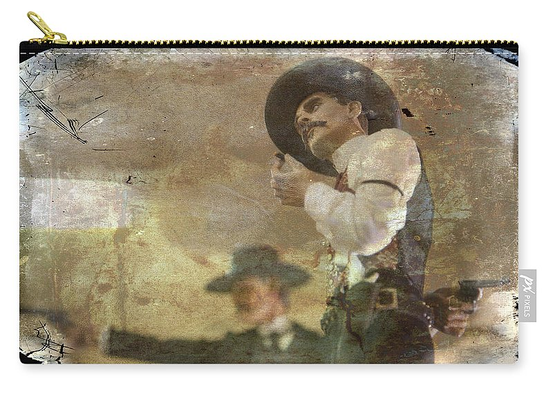 Western Carry-all Pouch featuring the photograph Gunslinger II Doc Holliday by Toni Hopper