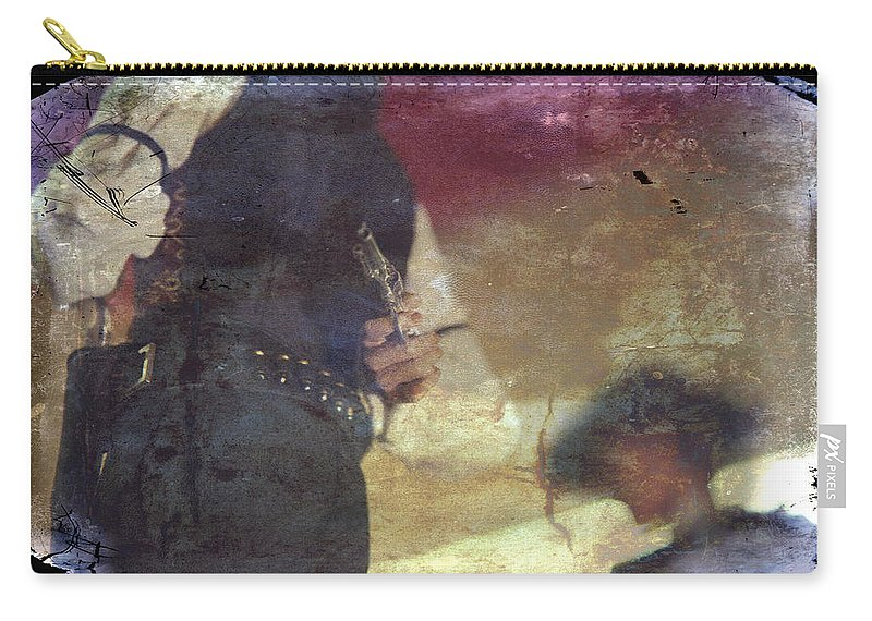 Western Carry-all Pouch featuring the photograph Gunslinger by Toni Hopper
