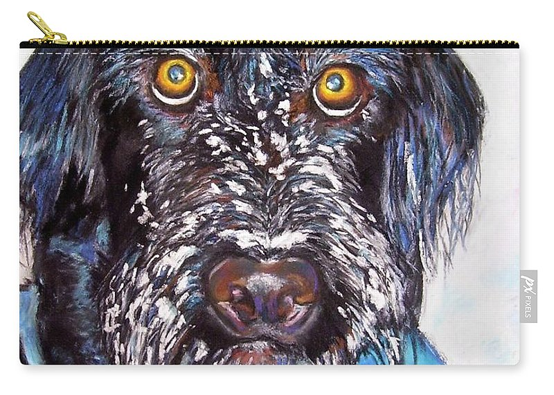 Dog Carry-all Pouch featuring the painting Gus by Frances Marino