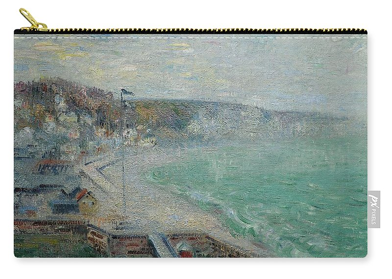 Gustave Loiseau 1865 - 1935 Beach FÉcamp Carry-all Pouch featuring the painting Gustave Loiseau 1865 - 1935 Beach Fecamp by Adam Asar