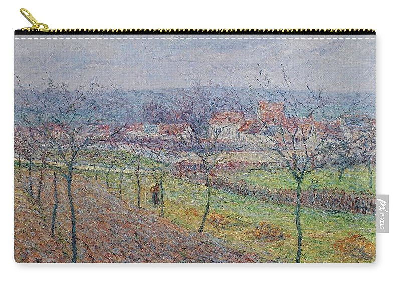 Gustave Loiseau 1865 - 1935 Big Spring Landscape Carry-all Pouch featuring the painting Gustave Loiseau 1865 - 1935 Big Spring Landscape by Adam Asar