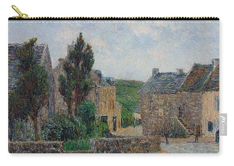 Gustave Loiseau 1865 - 1935 Rue À St. Lunaire Carry-all Pouch featuring the painting Gustave Loiseau 1865 - 1935 Rue A St. Lunaire by Adam Asar
