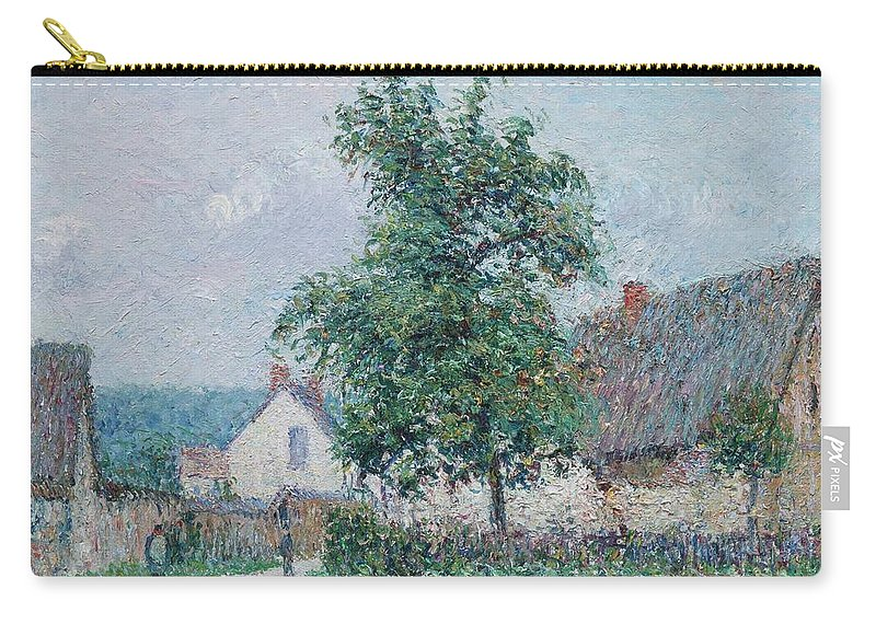 Gustave Loiseau 1865 - 1935 Small Farm In Vaudreuil Carry-all Pouch featuring the painting Gustave Loiseau 1865 - 1935 Small Farm In Vaudreuil, Time Gray by Adam Asar