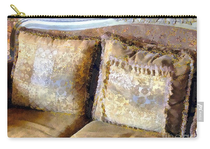 Antique Carry-all Pouch featuring the painting Gustav's Couch by RC DeWinter