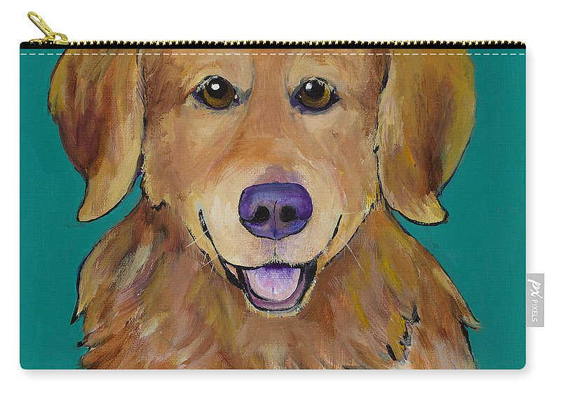 Golden Retriever Carry-all Pouch featuring the painting Guthrie by Pat Saunders-White