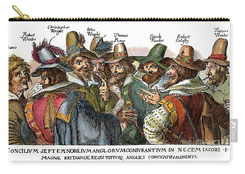 1605 Carry-all Pouch featuring the drawing Guy Fawkes, 1570-1606 by Granger