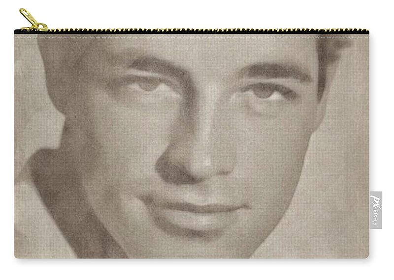 Classic Carry-all Pouch featuring the pastel Guy Madison, Vintage Hollywood Actor by John Springfield