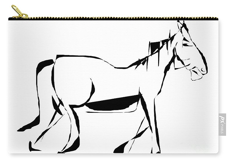 Graphics Carry-all Pouch featuring the digital art Gv095 by Marek Lutek