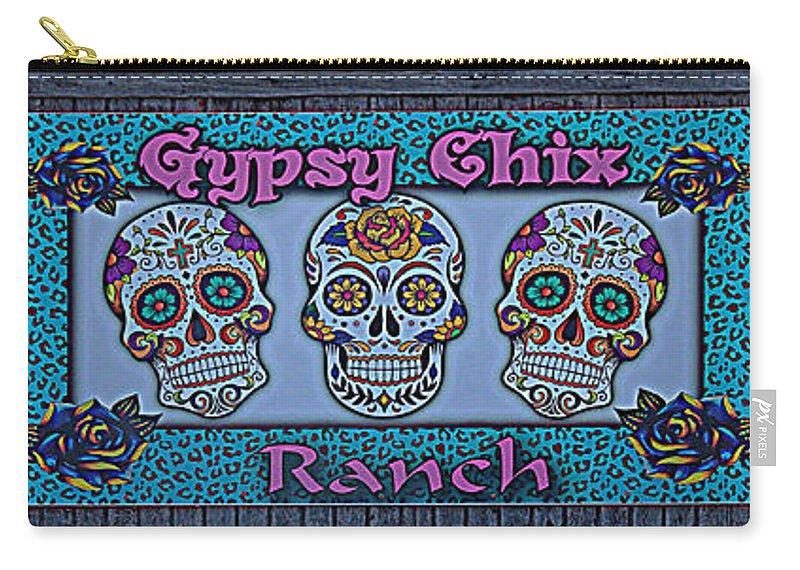 Gypsy Chix Ranch Carry-all Pouch featuring the photograph Gypsy Chix Ranch by Debra Martz