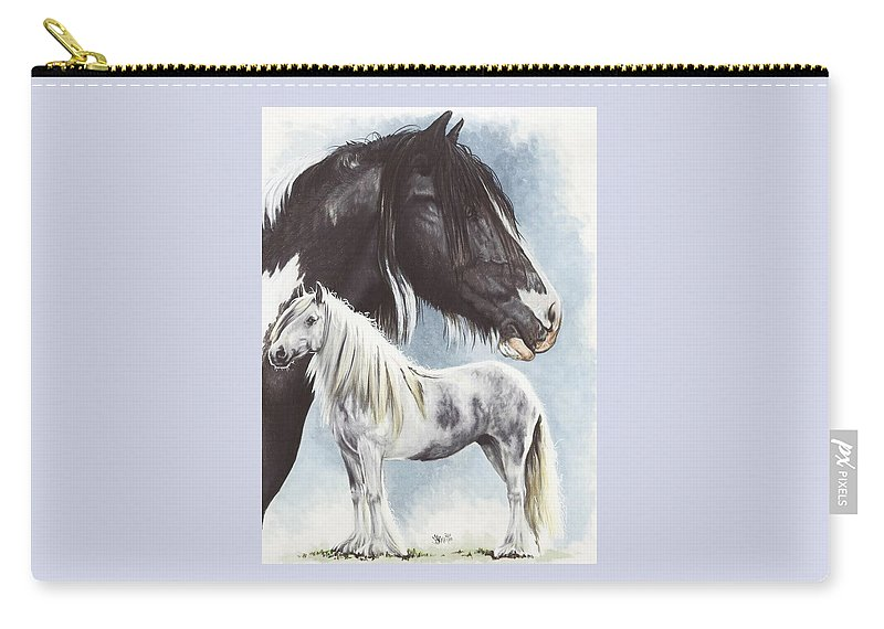 Equine Carry-all Pouch featuring the mixed media Gypsy Cob by Barbara Keith